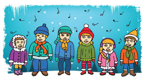Children singing carols Royalty Free Stock Photography