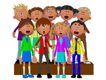 Children singing, Children chorus Royalty Free Stock Photography
