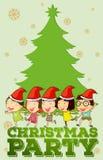Children singing christmas songs Stock Photo