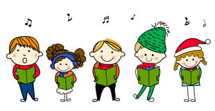 Children singing Royalty Free Stock Photo