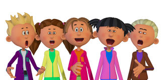 Children singing Stock Photography