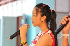 Children singing in school activities. BANGKOK, THAILAND - MAR 11, 2015: Unknown children, Children singing in school activities at Elementary School. bangkok at royalty free stock photos