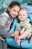 Children - the sister and the brother. Stock Photo