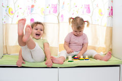 Children sisters play together Royalty Free Stock Image