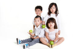 Children sitting together Stock Photography
