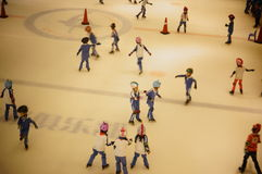 The children are skating rink happy Royalty Free Stock Photos