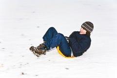 Children are skating at a toboggan Royalty Free Stock Images