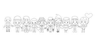 Children sketches vector Royalty Free Stock Photos