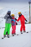 Children on the ski Stock Image