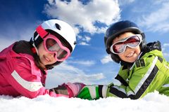 Children in ski clothing Royalty Free Stock Photography