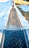 Children ski Conveyor in ski resort Stock Image