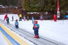Children ski school Royalty Free Stock Images