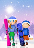 Children skier Royalty Free Stock Photo