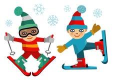 Children skiers. Stock Photo