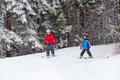 Children skiing Stock Photos