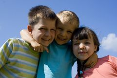 Children on sky Royalty Free Stock Photography
