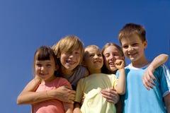 Children on sky Royalty Free Stock Photo