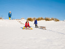 Children sledging Stock Image
