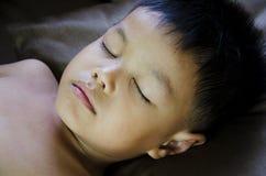 Children sleeping. The boy was sleeping on the pillow Stock Photo