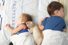 Children sleeping Royalty Free Stock Photography