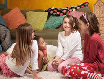 Children at a Sleepover Stock Photo