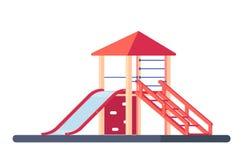 Children slide isolated on white background. Kids playground equipment. Outdoor kids park element Stock Photos