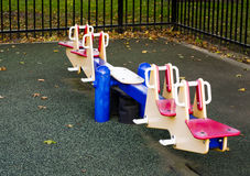 Children slide at the playground Royalty Free Stock Photos