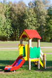 Children slider in playground Royalty Free Stock Photography