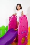 Children Sliding Royalty Free Stock Images