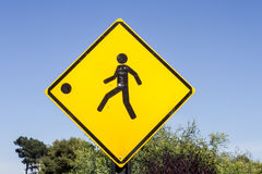 Children slow down road sign Royalty Free Stock Image