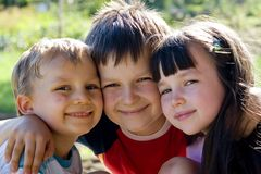 Children smiling Stock Photography
