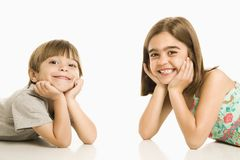 Children smiling. Royalty Free Stock Photography