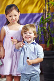 Children smiling in kindergarten Royalty Free Stock Photos