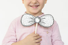 Children Smiling Playing Bow Tie Concept Stock Photos