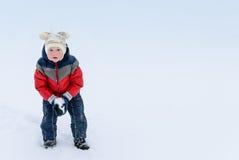 Children on snow Stock Photo