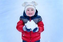 Children on snow Stock Image