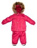 Children snowsuit spadek Zdjęcia Royalty Free