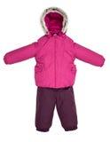 Children snowsuit spadek Obraz Royalty Free