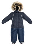 Children snowsuit spadek Obrazy Royalty Free