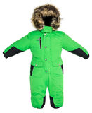 Children snowsuit spadek Obraz Royalty Free