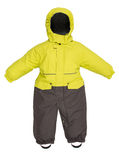 Children snowsuit spadek Fotografia Royalty Free