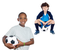 Children with soccer ball Royalty Free Stock Image