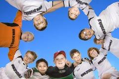 Children Soccer Team Stock Photos