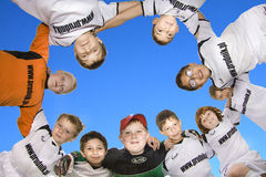 Children Soccer Team Stock Photo