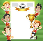 Children Soccer winners trophy. Royalty Free Stock Images