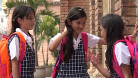 Children Socializing Wearing School Uniforms Royalty Free Stock Photo