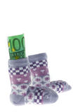 Children Socks and Euro banknotes Stock Photography