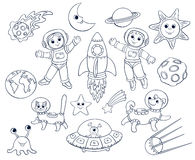 Children in the space Royalty Free Stock Photos