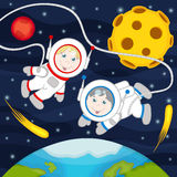 Children in space Royalty Free Stock Photography