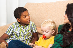Children speaking Stock Image